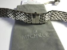 MICHELE DECO 18mm stainless steel watch bracelet  - ms18au235009 -fits deco only