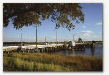 Sunset Beach NC Swing Bridge in late summer  8 x 10 size to mount Now gone !