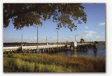 Sunset Beach NC Swing Bridge in late summer  8 x 10 size Bridge Now removed
