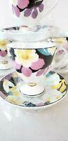 Royal Born Fine China Tea Cup and Saucer Set 7oz Coffee Cup Set 4 cups 4 Saucer