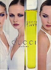 """PUBLICITE ADVERTISING  1996   GUCCI   """" ENVY"""" parfums                     111112"""