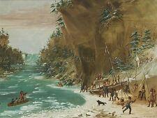 GEORGE CATLIN AMERICAN EXPEDITION ENCAMPED FALLS NIAGARA ART PRINT BB5439A