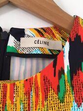Céline Ikat Print Dress Colourful Pattern FR38 Celine