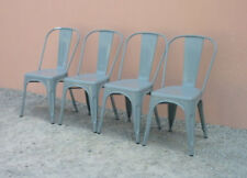 Quattro sedie Tolix in stile, metallo verniciato - H 86 - H sed 44,5 - sed 36cm