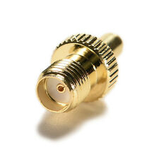 Hot Gold plating Adapter TS9 male plug to SMA female jack RF connector W&T