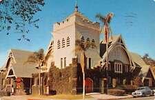 Monrovia California First Baptist Church Street View Vintage Postcard K45768