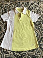 Nwt Womens Annika By Cutter Buck Golf Tennis Polo Shirt Size Small Yellow