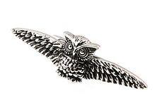 Men's Tie bar Owl Silver Black Tie clip  4001  48mm