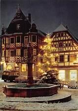 Bonne Annee Street Shops, Christmas Tree Statue Fountain Vintage Cars Auto