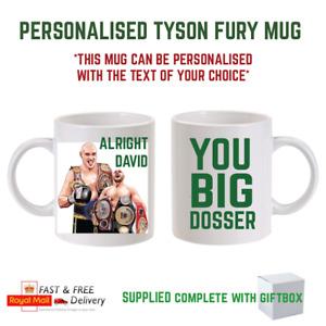 personalised Tyson Fury you big dosser Gypsy King coffee Mug unofficial fun gift