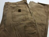 Mens CARHARTT Carpenter Pants Duck Canvas Work Size 38-31 See Pics
