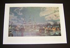 "John Stobart Signed LE Print ""Mystic Seaport-Charles W. Morgan at Chubb's Wharf"""