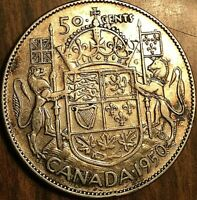 1950 CANADA SILVER 50 CENTS COIN