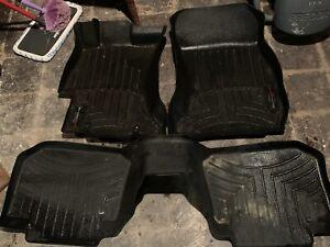 WeatherTech FloorLiner for Subaru Crosstrek/Impreza/WRX/STI 1st & 2nd Row- Black