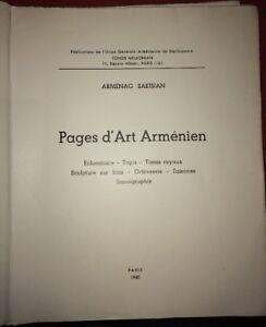ARMENIA. ILUMINACIONES, ALFOMBRA, GOLDSMITH, LOZA DE BARRO, etc .1940.