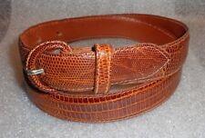 Polo Ralph Lauren faux alligator  brown leather belt 32