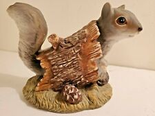 1986 Squirrel Figurine Homco Masterpiece Porcelain Home Interiors