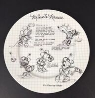 """Disney SKETCH BOOK Collectible Minnie Mouse Dinner Plate 10.5"""" In Diameter NEW"""