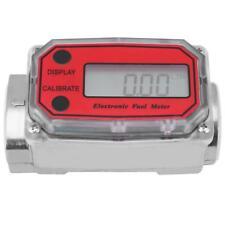 Mini Led Digital Turbine Flow Meters Diesel Fuel Flowmeter 15120lmin 1npt Red
