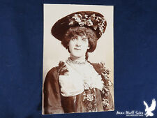 RPPC Fancy Lady HUGE Hat Tons of Jewelry WOW Pearls Beads Flowers RAMSGATE ENG