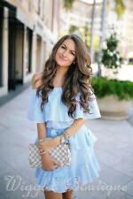 100% Cotton Off the Shoulder Casual Dresses for Women