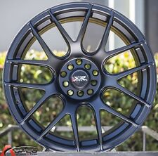 "16X8.25"" XXR 530 WHEELS 4X100/114.3 RIM +0MM FLAT BLACK FITS DEL SOL 92-97"