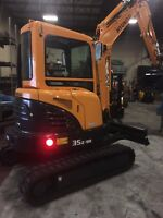Hyundai Mini Excavator R35Z-9A  with AC Cabin  we offer leasing financing 2019