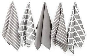 Penguin Home®100% Cotton Tea Towel Set of 5 - Soft - Durable & Absorbent