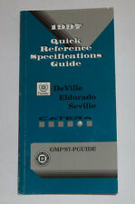 Datenhandbuch/Quick Reference Specifications Guide Cadillac 1997