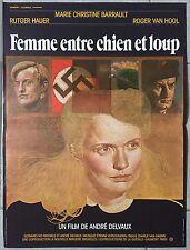 Affiche FEMME ENTRE CHIEN ET LOUP André Delvaux MARIE-CHRISTINE BARRAULT 40x60 *