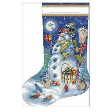 Cross Stitch Kits Embroidery Kit - Christmas Stockings, Snowman Patterns SS