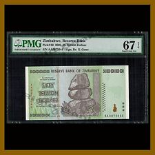 Zimbabwe 50 Trillion Dollars, 2008 P-90 AA PMG 67 EPQ