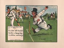 1905 ANTIQUE PRINT - CROMBIE LAWS OF CRICKET - HOW TO PLACE MEN IN THE FIELD