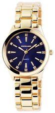 Damenuhr Blau Gold Strass Analog Metall Quarz Armbanduhr X-180503000040
