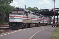 AMTRAK Railroad Train Locomotive 205 Original 1992 Photo Slide