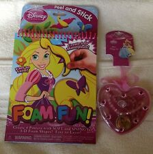 Disney Princess 3D Foam Fun Posters & Necklace & Ring Jewelry Set