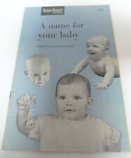 1950 Better Homes and Garden A Name For Your Baby Booklet Shower Gift!