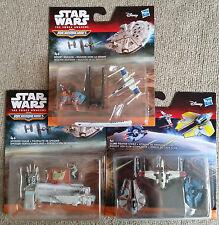 Hasbro Star Wars Micro Machines Ships X 3 Sets - 2015