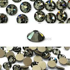 720 Swarovski 2088 16ss 4mm crystal flatback rhinestone ss16 BLACK DIAMOND (215)