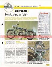 ADLER M250 M 250 1953 Joe Bar Team Fiche Moto #000068