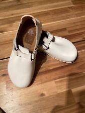 NWOB Birkenstock Alpro White Leather Clogs US L8, M6 Unise