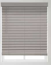 """Premium 2 1/2"""" Cordless Faux Wood Blinds in Driftwood"""