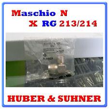 Connettore Maschio N 90° per Cavo Coassiale RG 213/214 SUHNER