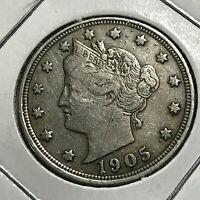 1905 LIBERTY NICKEL COIN FULL LIBERTY