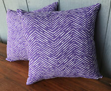 Small purple and white print indoor/outdoor pillow set 12""