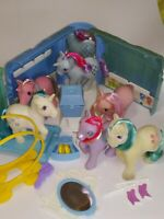 My Little Pony Vintage G1 Flawed Lot of 5 with Playset Parts Breaks TLC READ