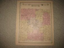 ANTIQUE 1875 DEERFIELD TOWNSHIP CENTER DEER CREEK LIVINGSTON COUNTY MICHIGAN MAP