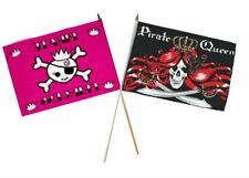 "12x18 12""x18"" Wholesale Combo Pirate Princess & Queen Pirate Stick Flag"