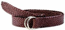 Badgery Queenslander Hand Plaited Kangaroo Leather Belt - FREE EXPRESS POST