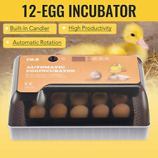 Digital Egg Incubator with Automatic Turning and Temperature Controller 12 Eggs